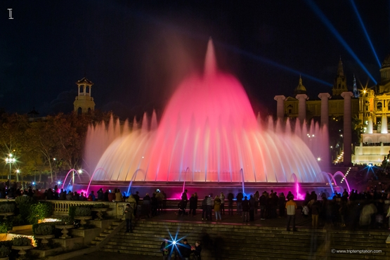 Montjuic Magic Fountain wallpaper