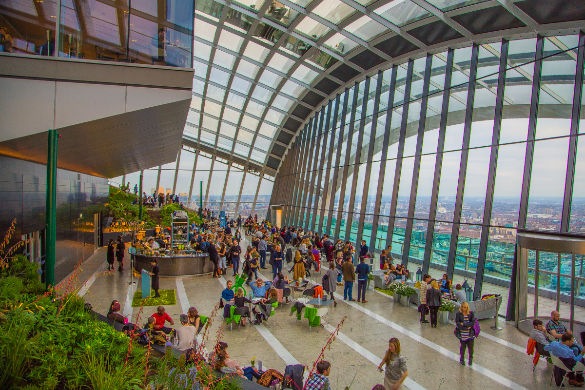 Sky garden hall skyscraper London