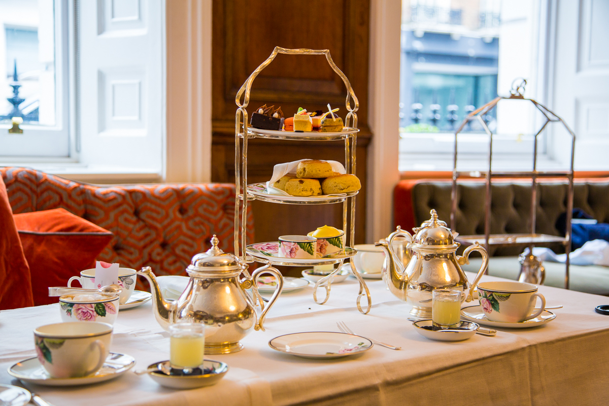 Gorgeous serving of afternoon tea
