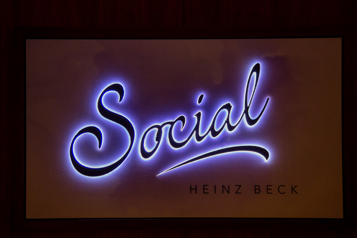Neon sign of the restaurant