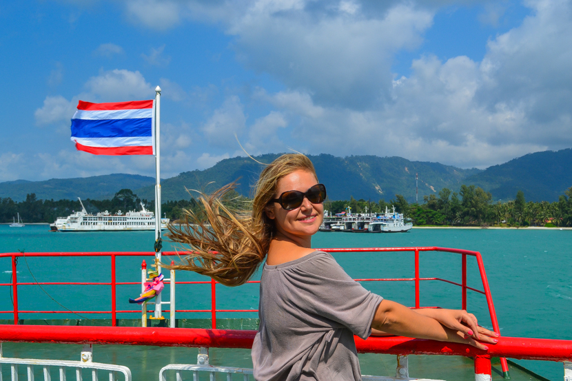 from Phuket Island by ferry to Samui.