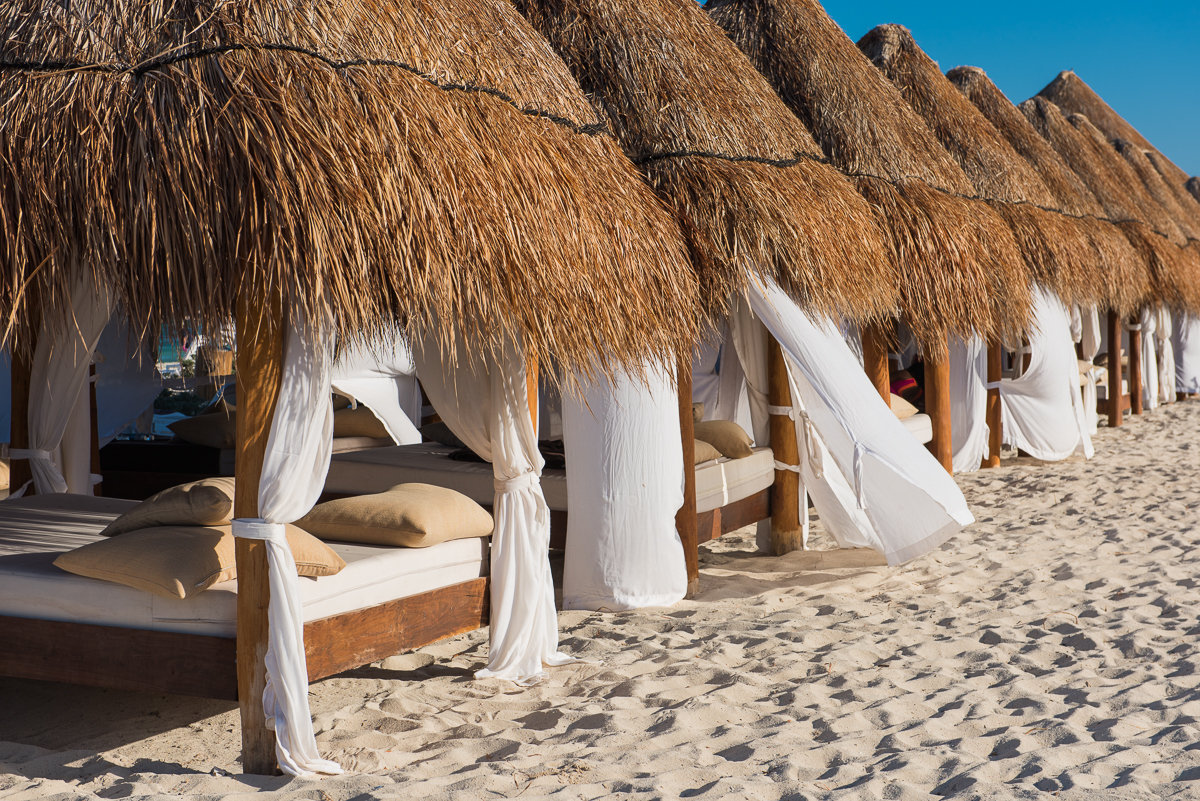 Lovely beach cabanas