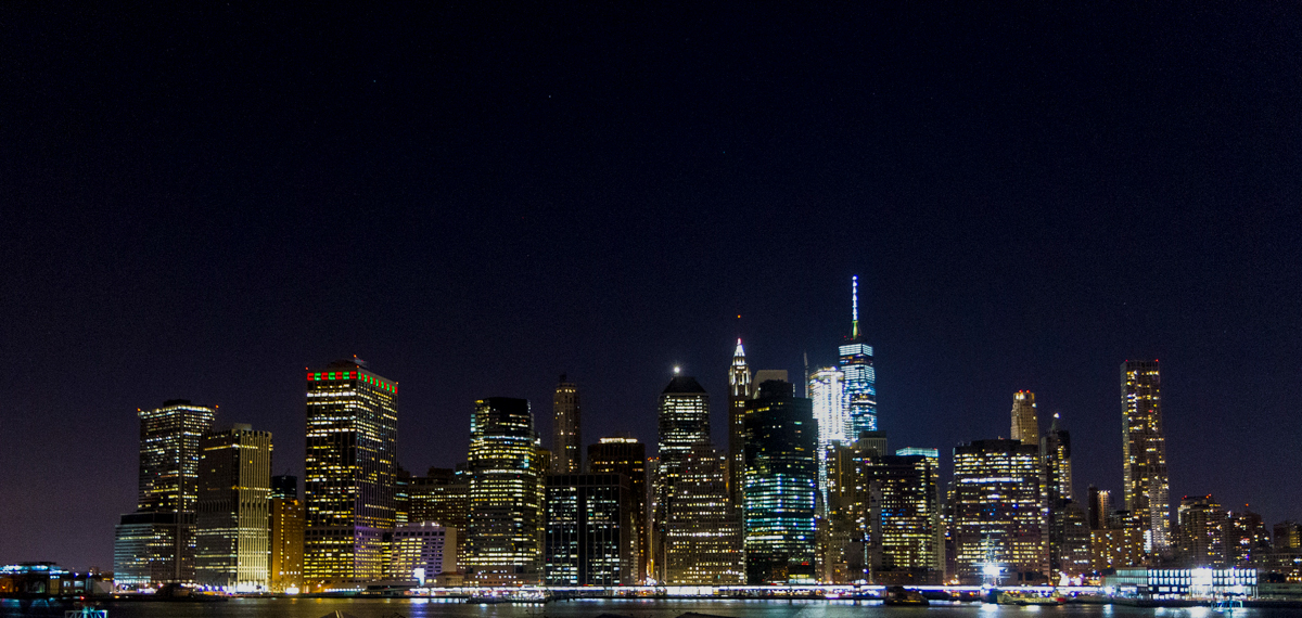 New York view at night