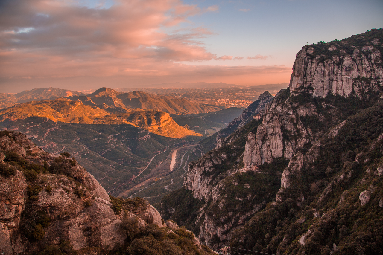 Breathtaking Montserrat canyon view