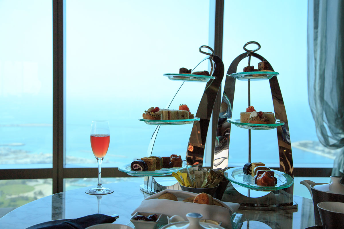 Afternoon tea with amazing view on Abu Dhabi