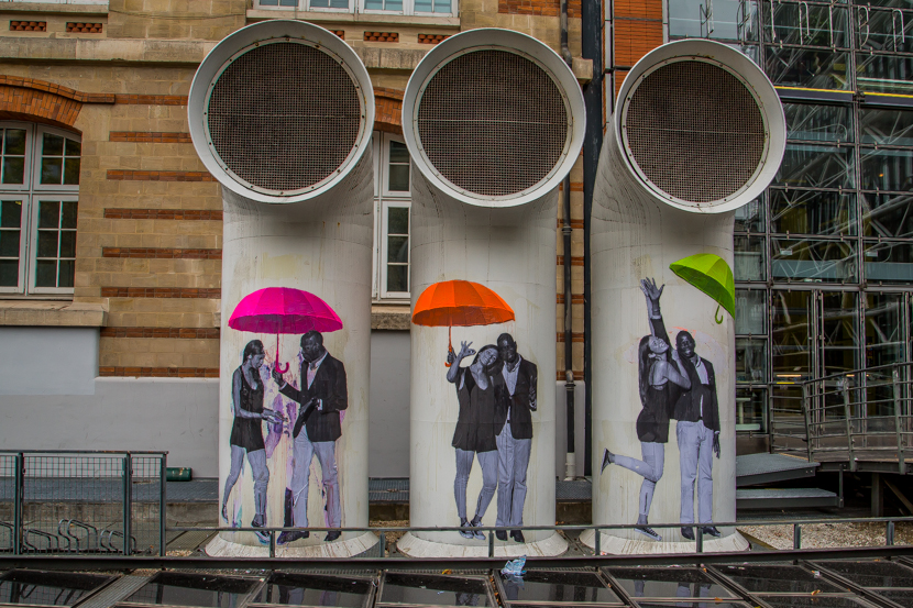 Modern street art in Paris