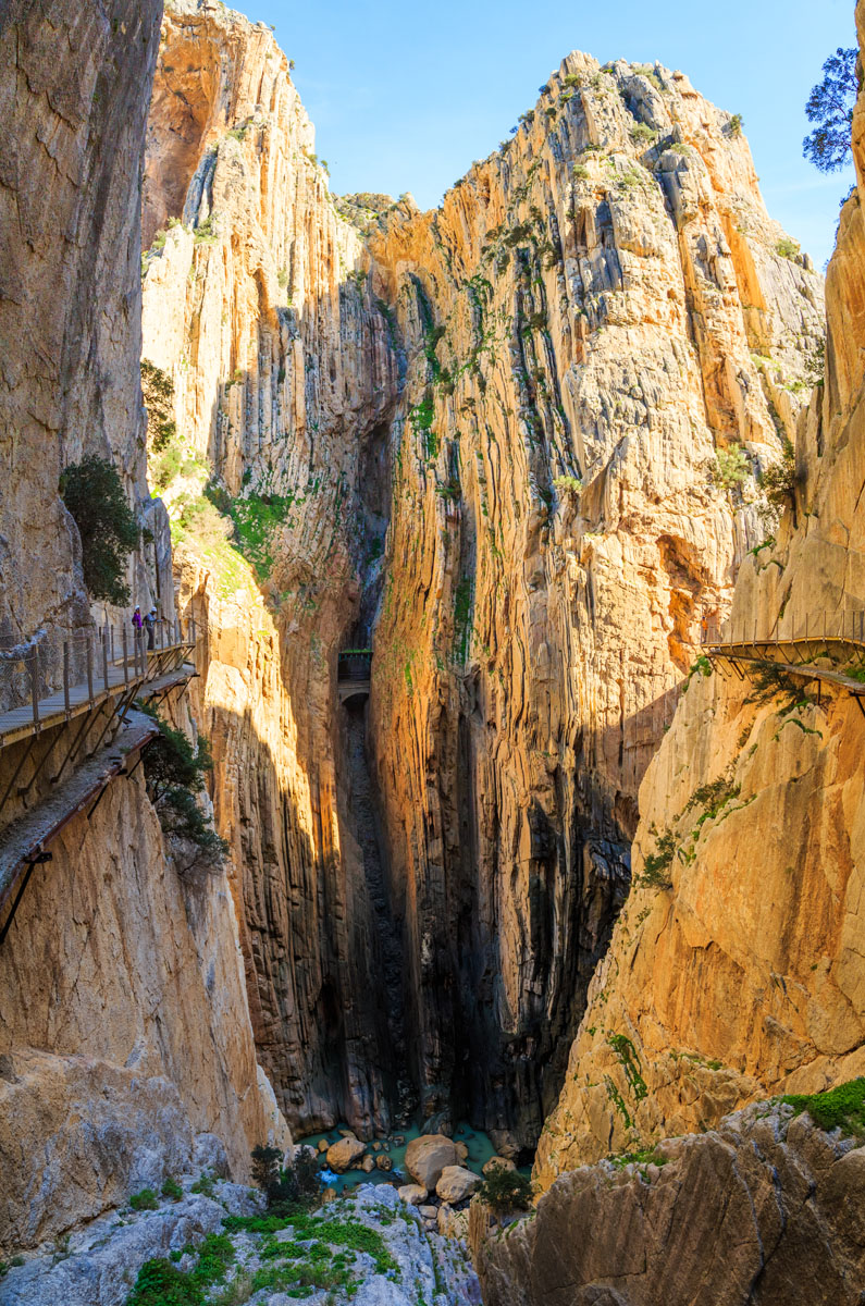 Beautiful rocks of Caminito del Rey