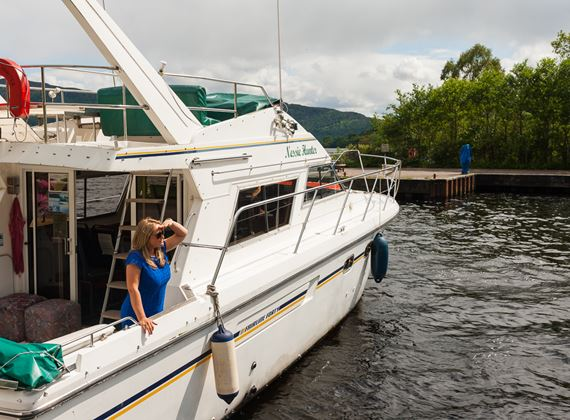 Boat trip to Loch Ness Lake