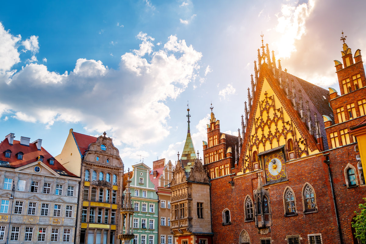 Wroclaw old city view