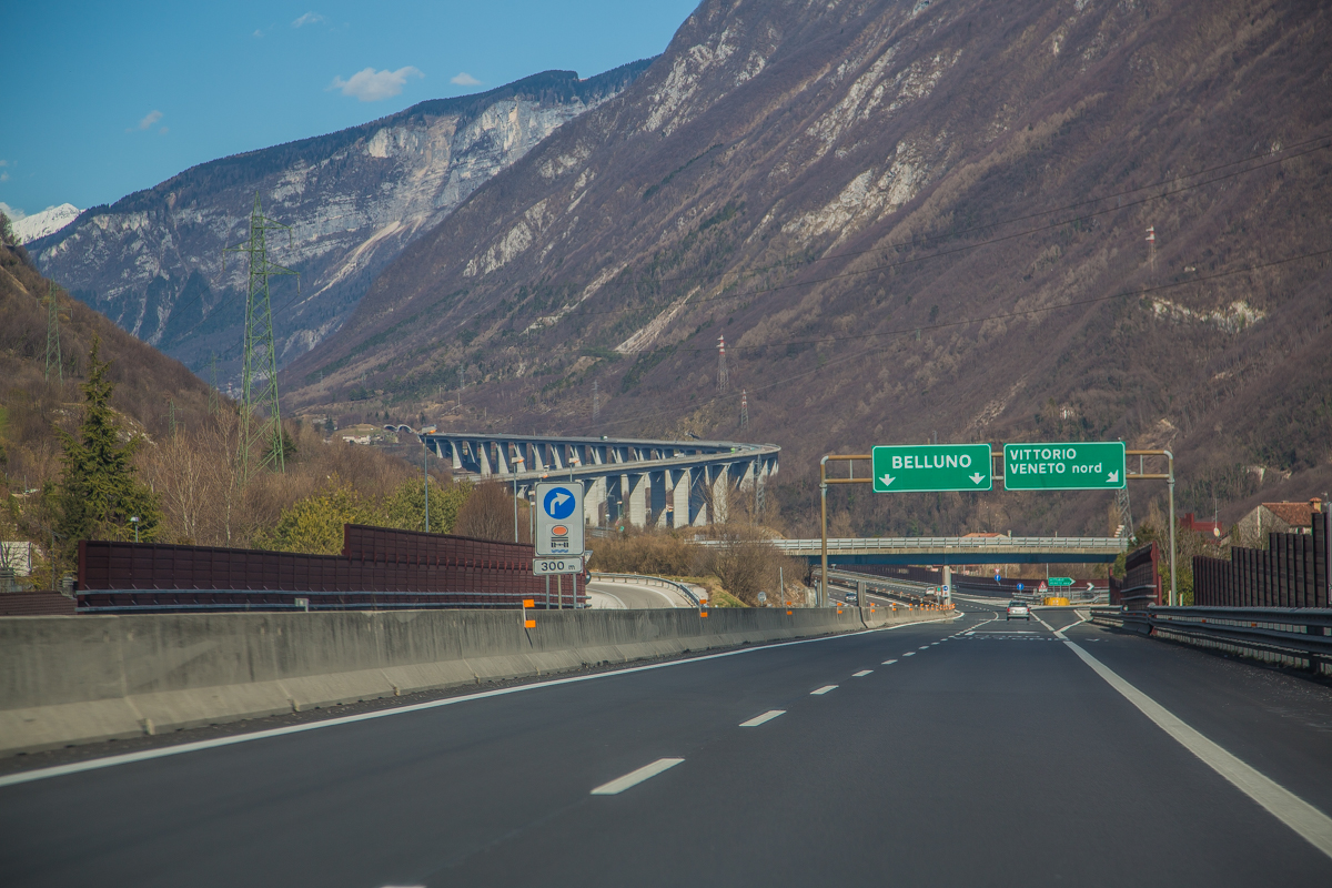 Perfect motorway in Italy