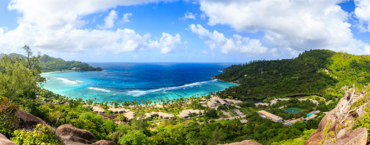 Breathtaking Seychelles panorama view