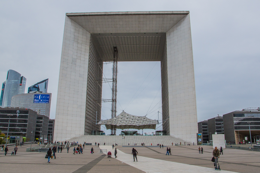 The Grande Arche in Paris