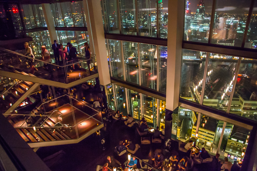 have a drink in the Aqua Shard