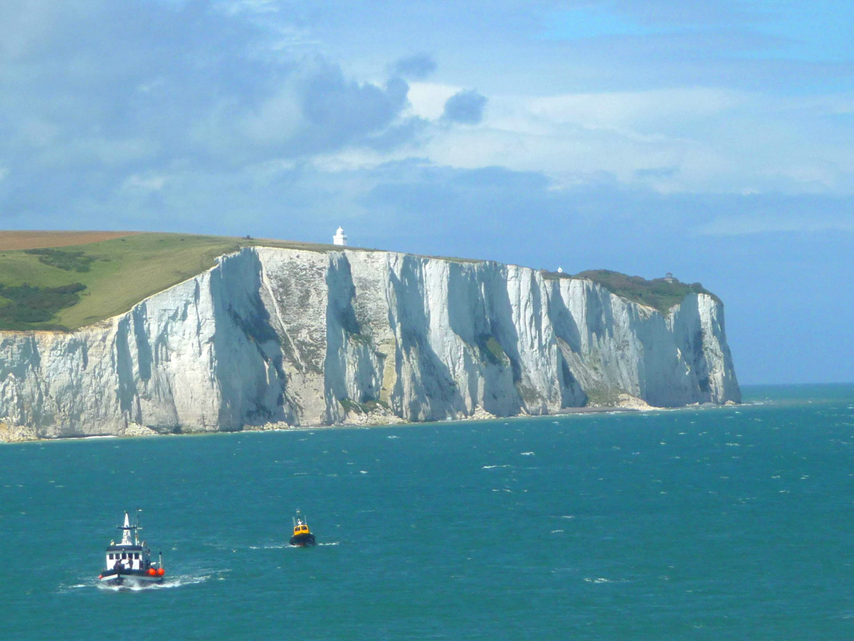 Beautiful Dover cliffs sea view