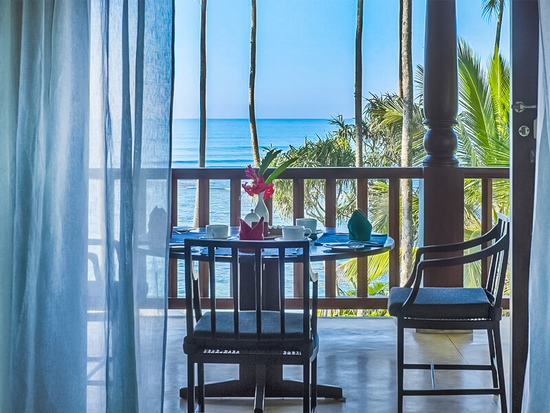 Balcony with ocean view