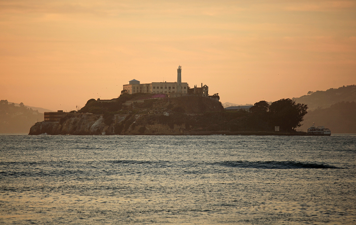 Alcatraz Island beautiful scenery San Francisco