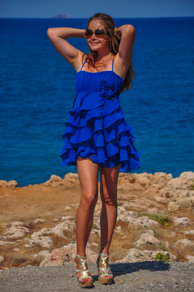 Hot girls on a Crete island