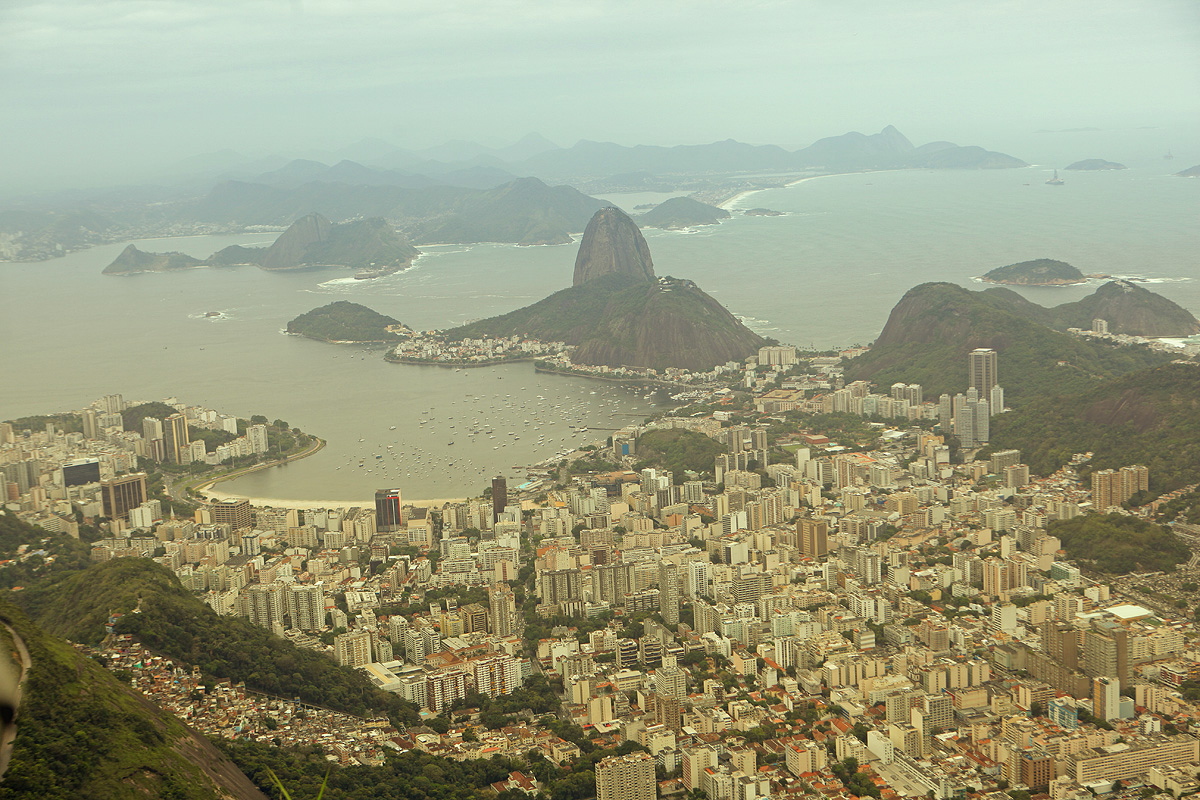 View from Corcovado mountain in Brasil