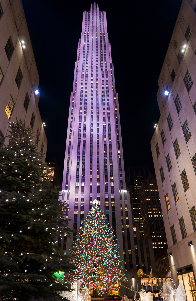 Famous Christmas tree near Rockefeller Plaza