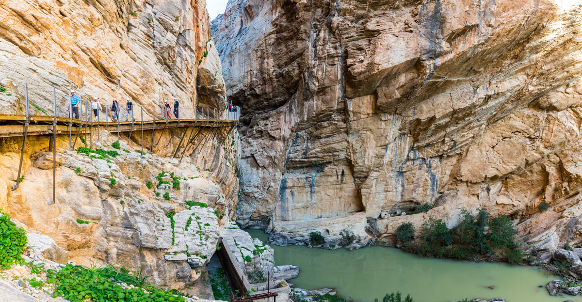 Breathtaking view of Caminito del Rey