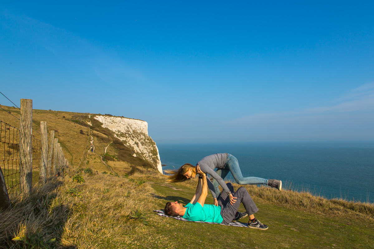 Dover Cliffs fun acroyoga