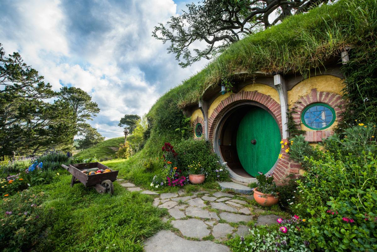 Picturesque Hobbiton in New Zealand