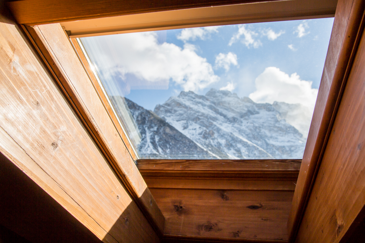 Gorgeous mountain view from window