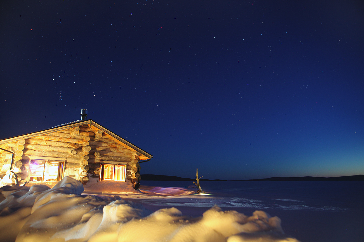 Night-time view of Karelia