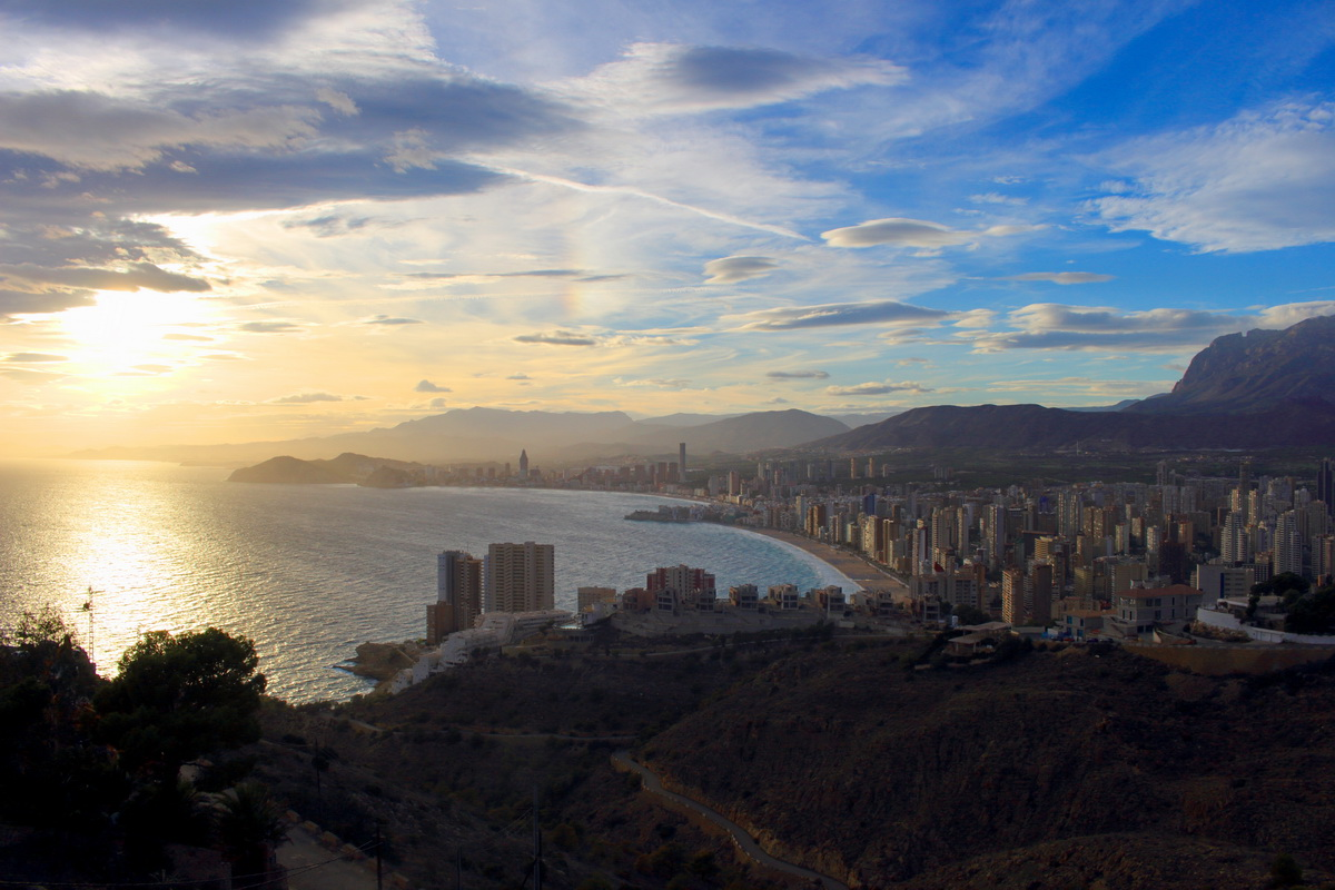 breathtaking view of Benidorm