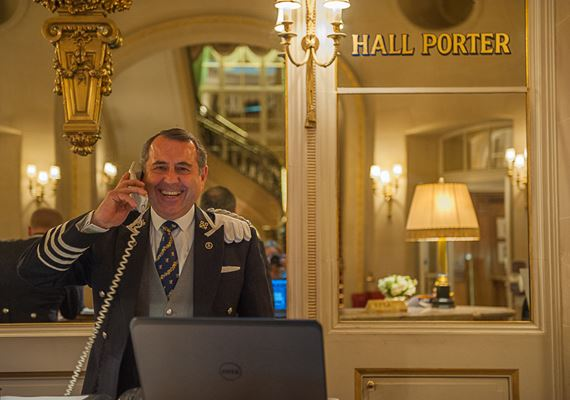 Head Concierge in Ritz London Michael De Cozar