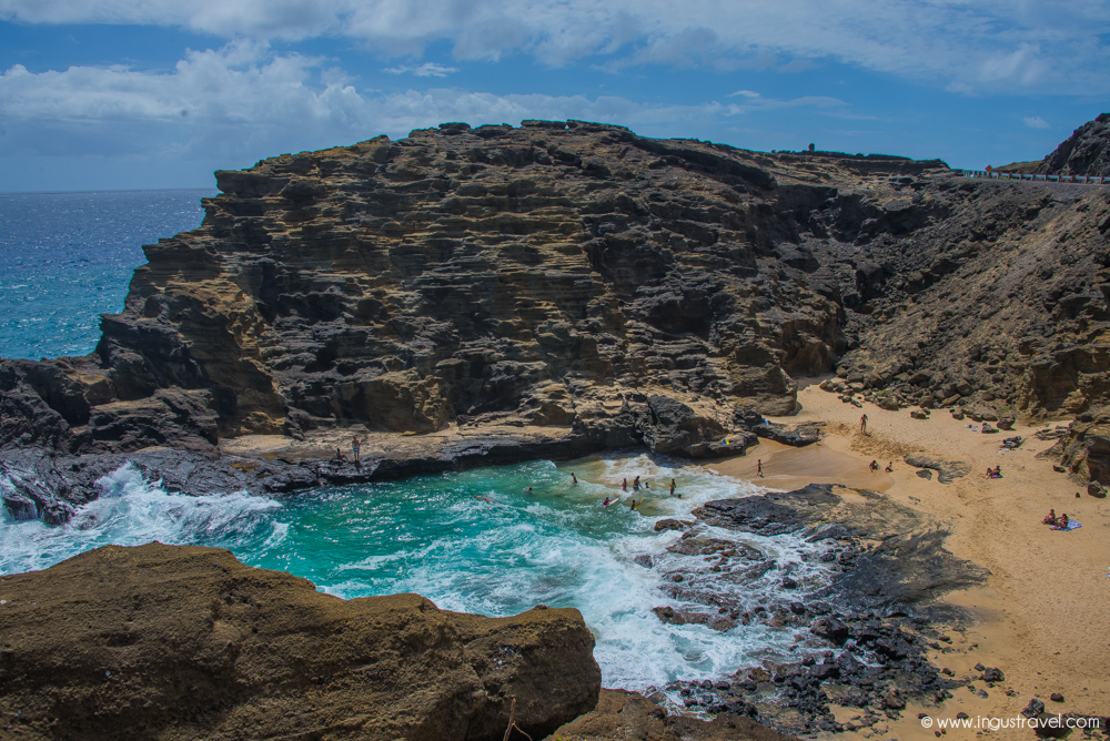 Visiting Cliff beach in Hawaii