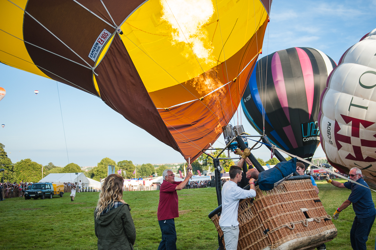 Hot air balloon festival in Bristol