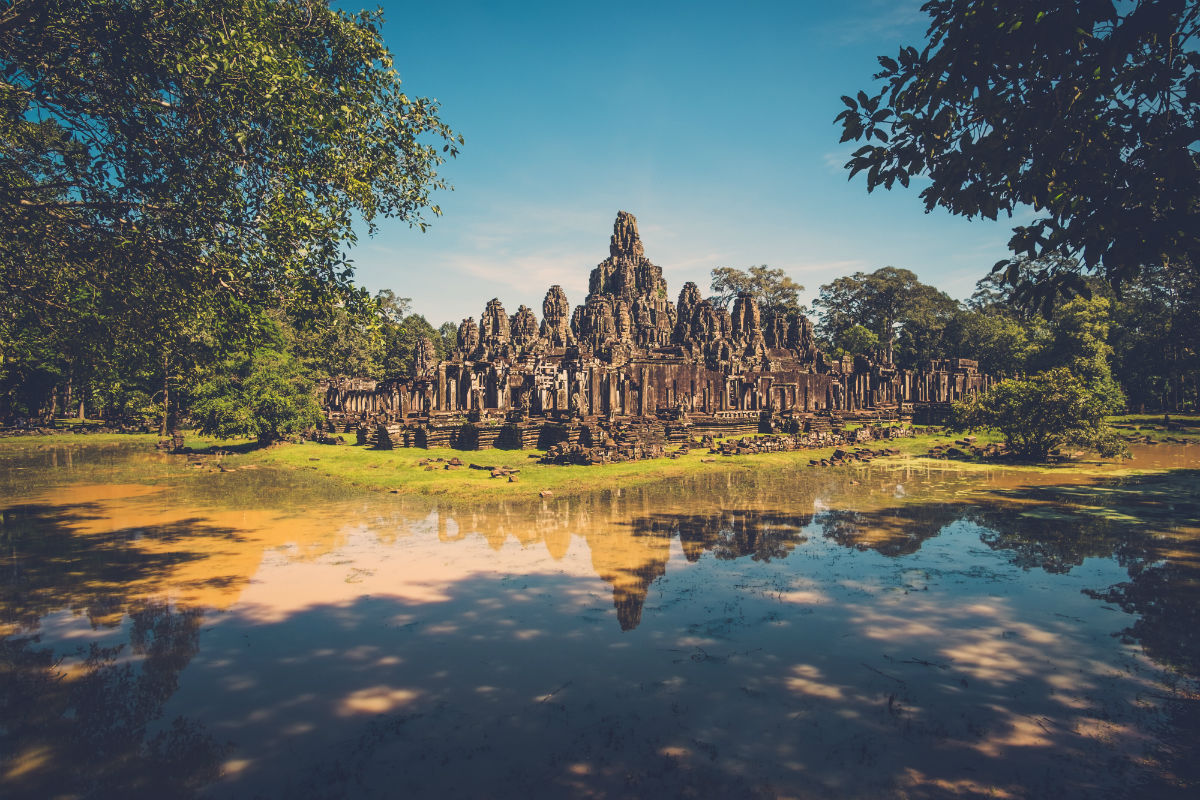 Amazing view of Bayon Temple