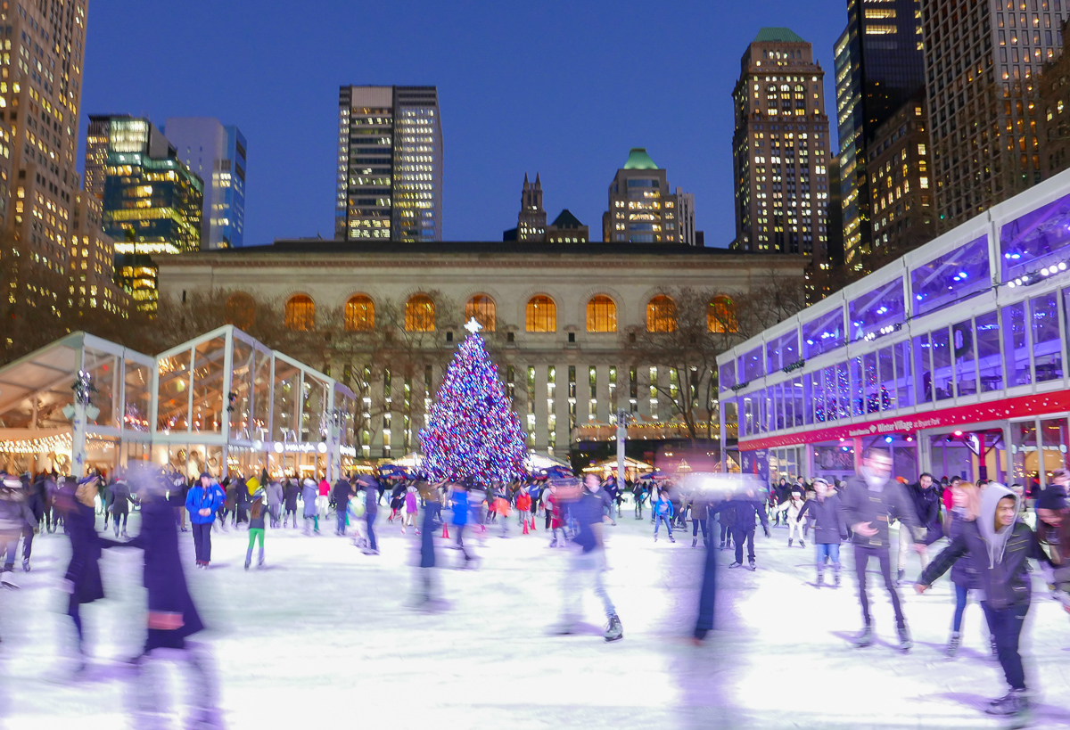 Amazing holiday atmosphere at Bryant Park
