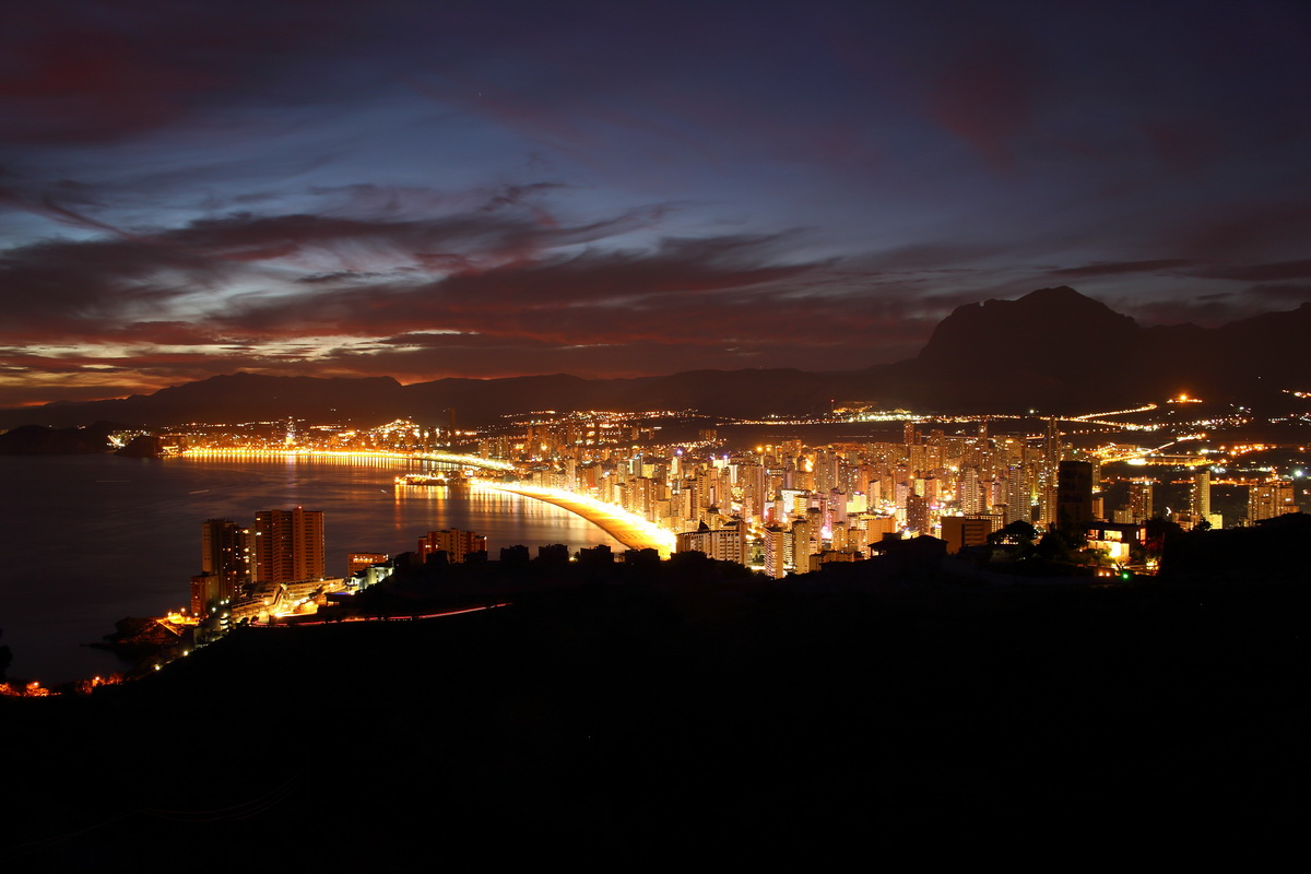 beautiful Benidorm at night