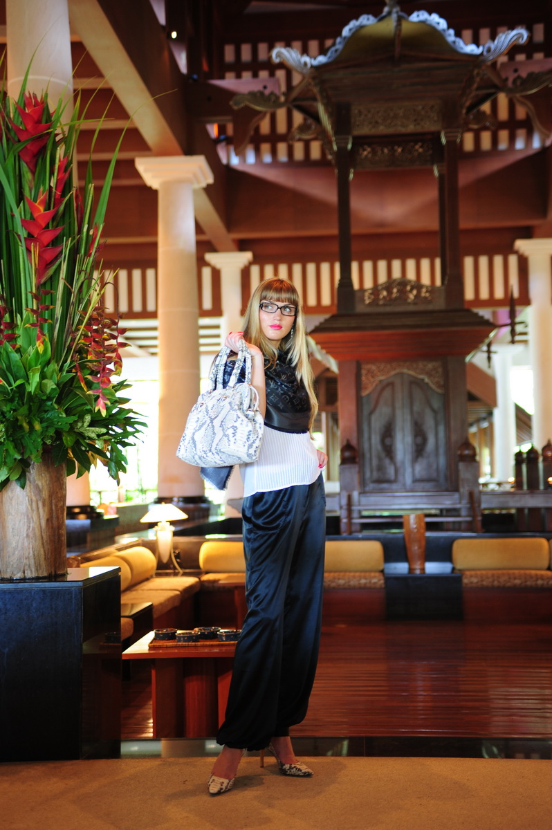Beautiful girl in Andaman hotel