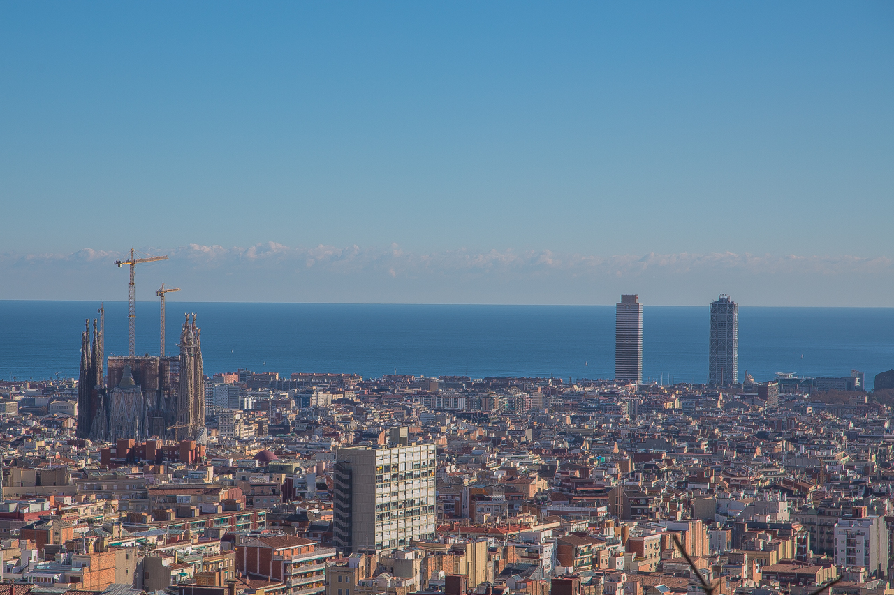 View on Barcelona from above