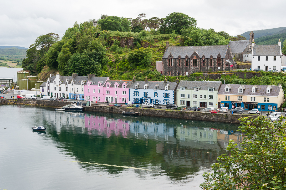 Portree - the capital of Isle of Skye
