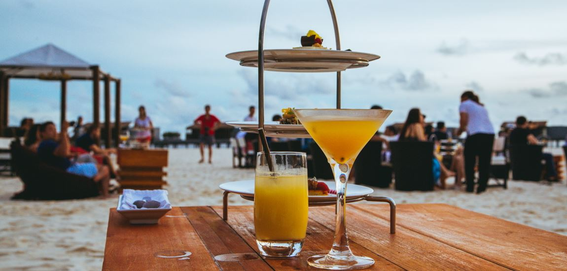Beach bar coctails