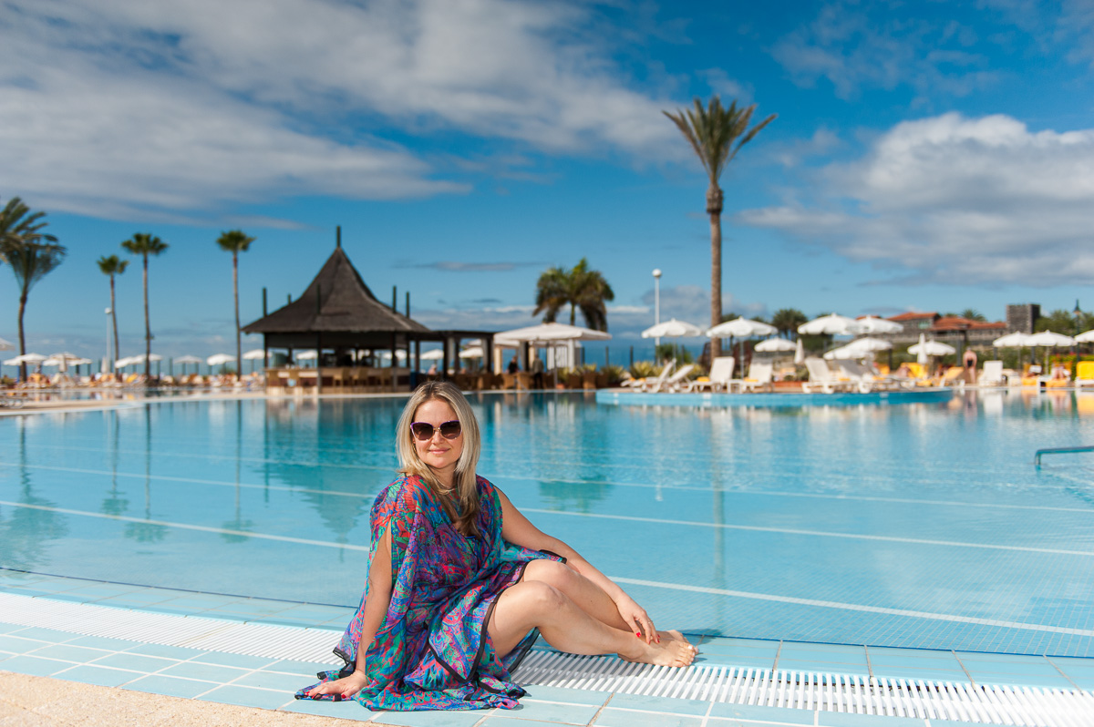 The great infinity pool of Iberostar Hotel Anthelia