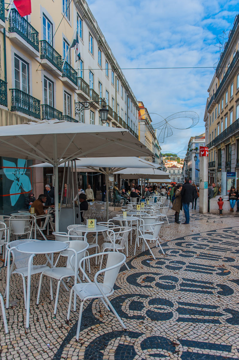 picturesque Lisbon cobblestone street