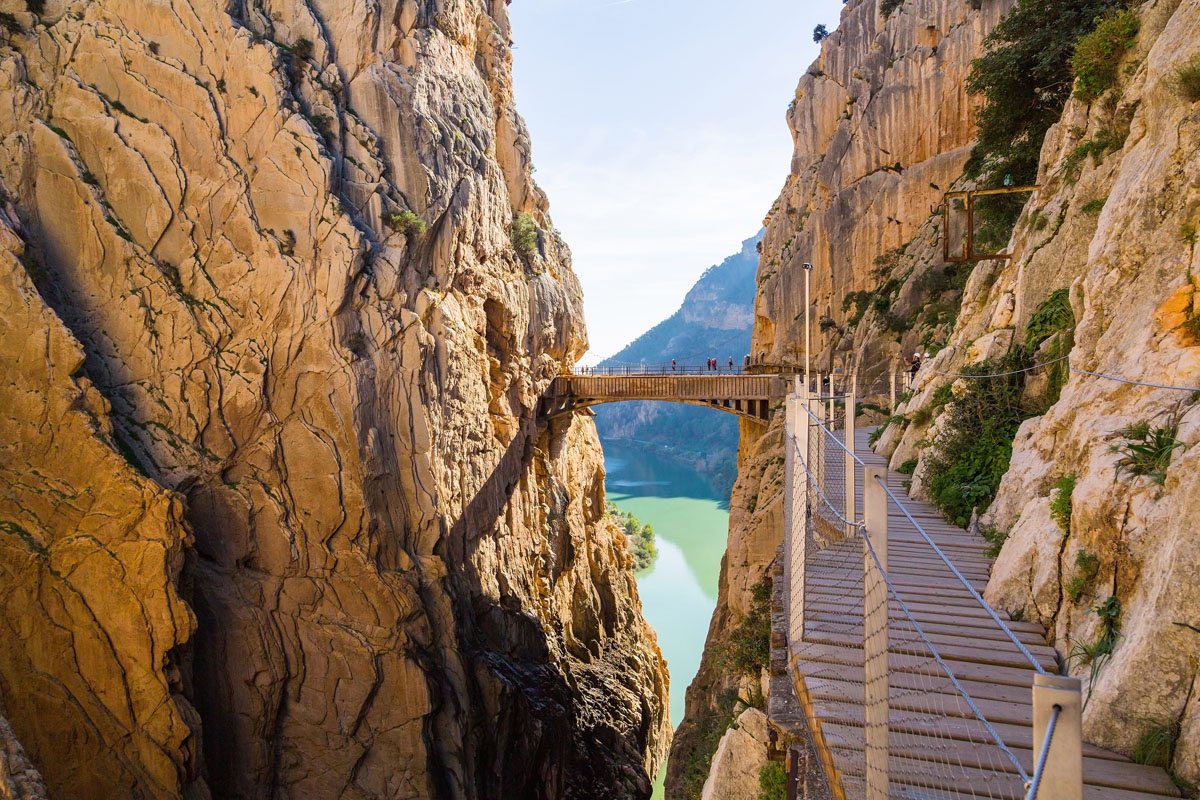 Incredible view on Caminito del Rey