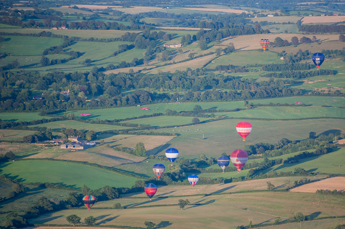 Hot air balloon evening flight