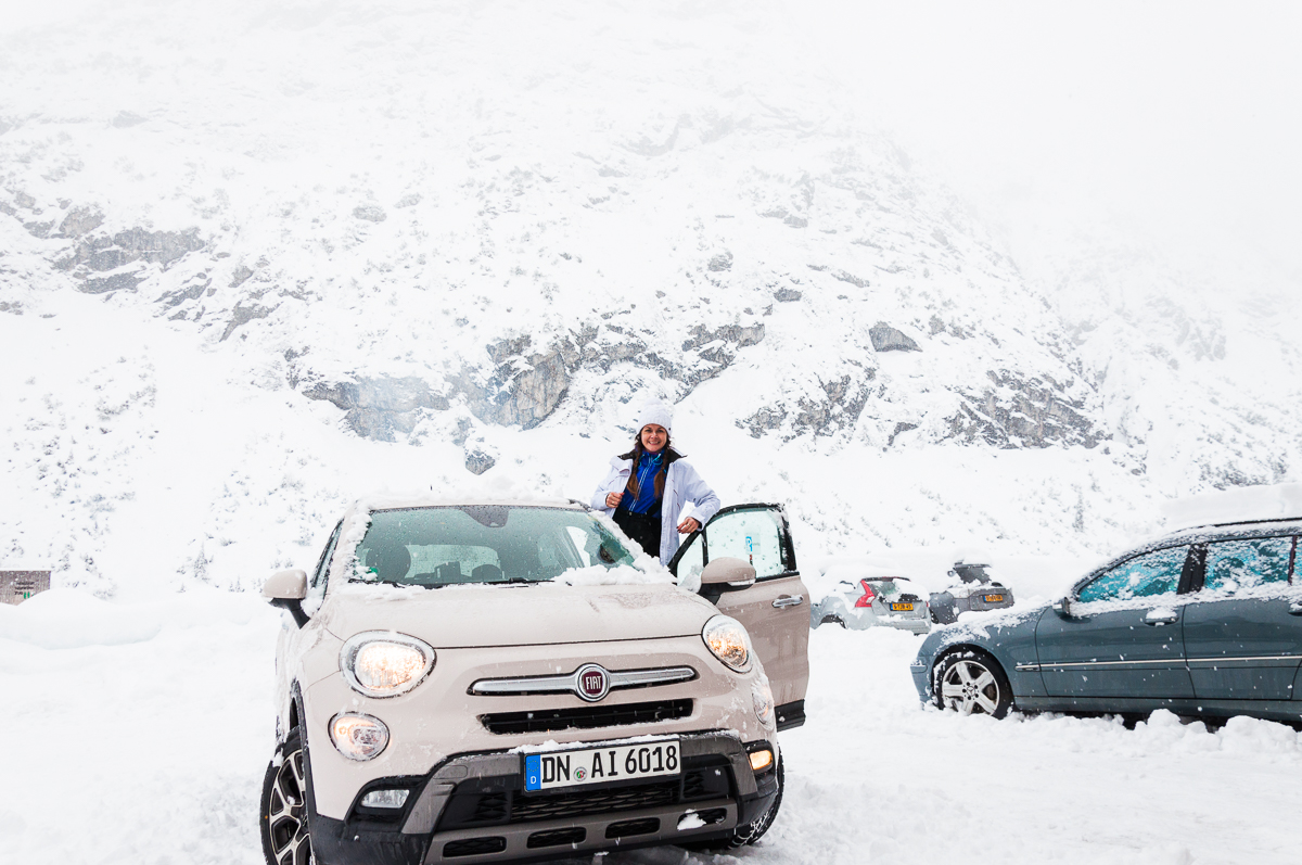Rental car in Alps, Austria