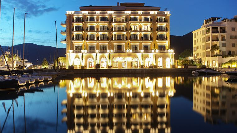 Regent Porto Montenegro hotel night view