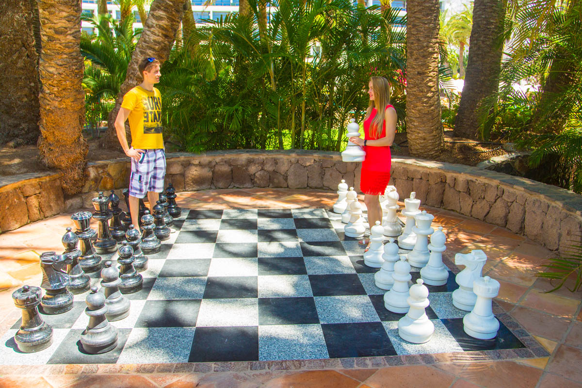 Playing big chess outside