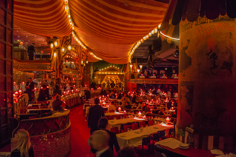 Inside Moulin Rouge in Paris