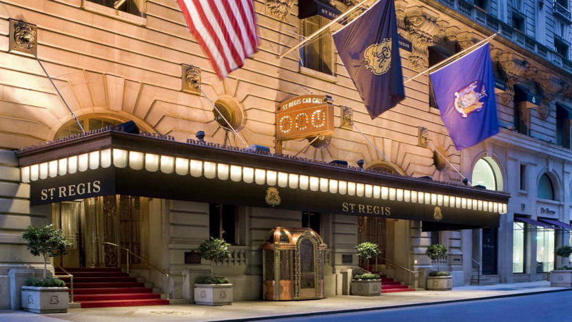 The St.Regis hotel in New York