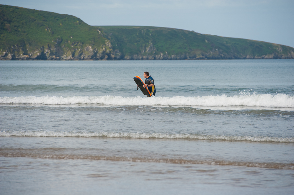 Surfer in Wales