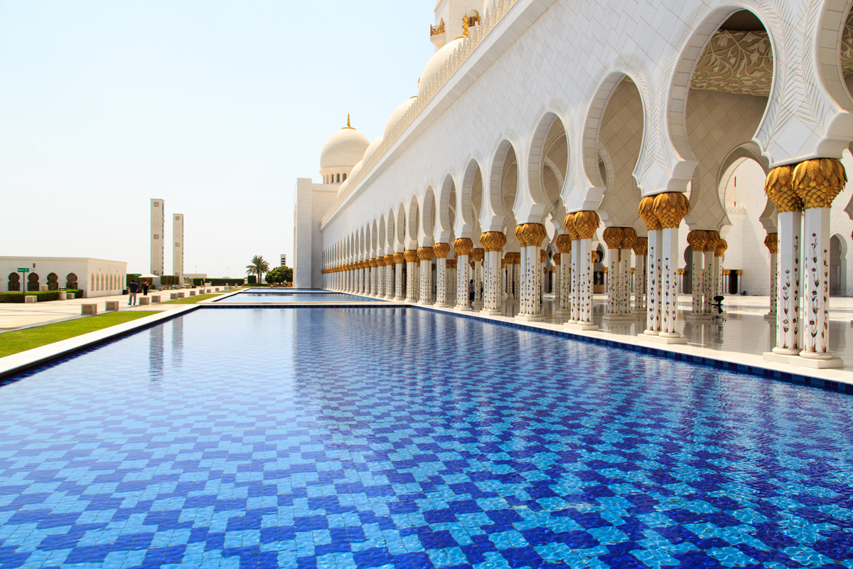 Amazing Steikh Zayed Mosque pools